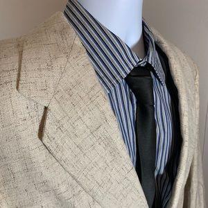 Hill & Archer Beige/Creamy Sport Coat 46 R
